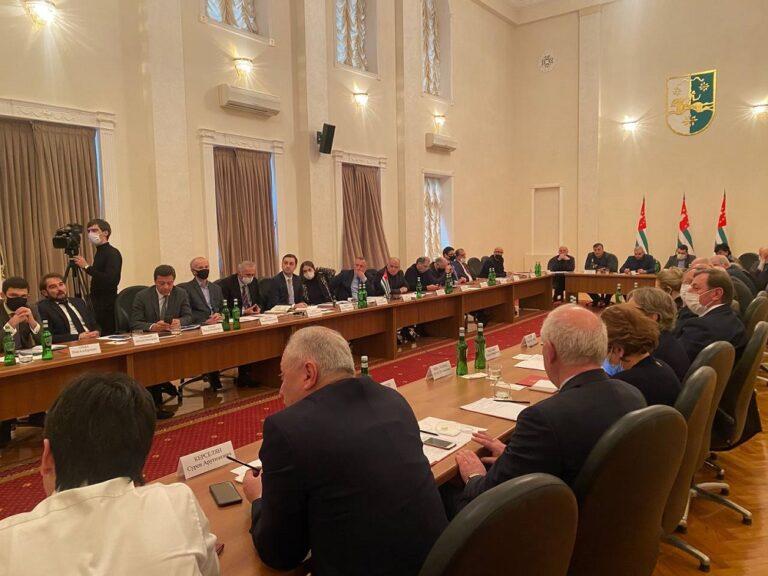 Председатель КСОРС принял участие в совещании, посвященном созданию общественного совета при президенте Абхазии