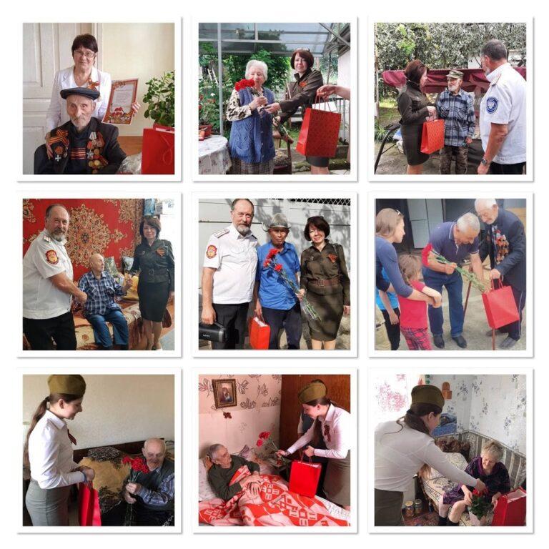 Члены КСОРС Абхазии развезли именные подарки и цветы ветеранам ВОВ