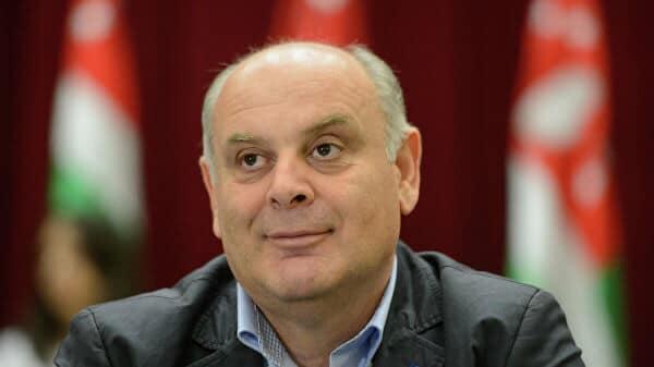 Поздравление Аслана Бжания с избранием на пост президента Абхазии